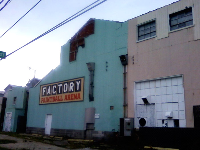 Paintball factory.