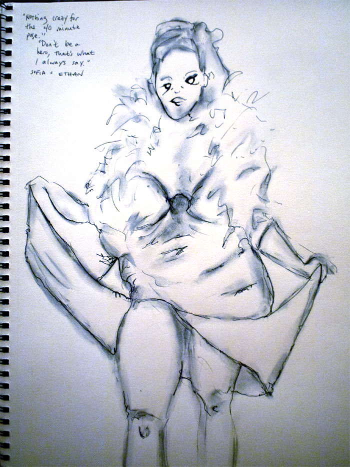 Dr Sketchy's Chicago - zombie