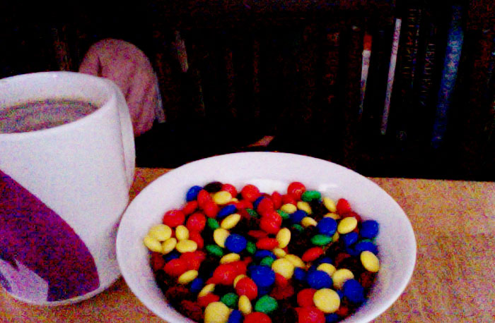 MnMs for breakfast