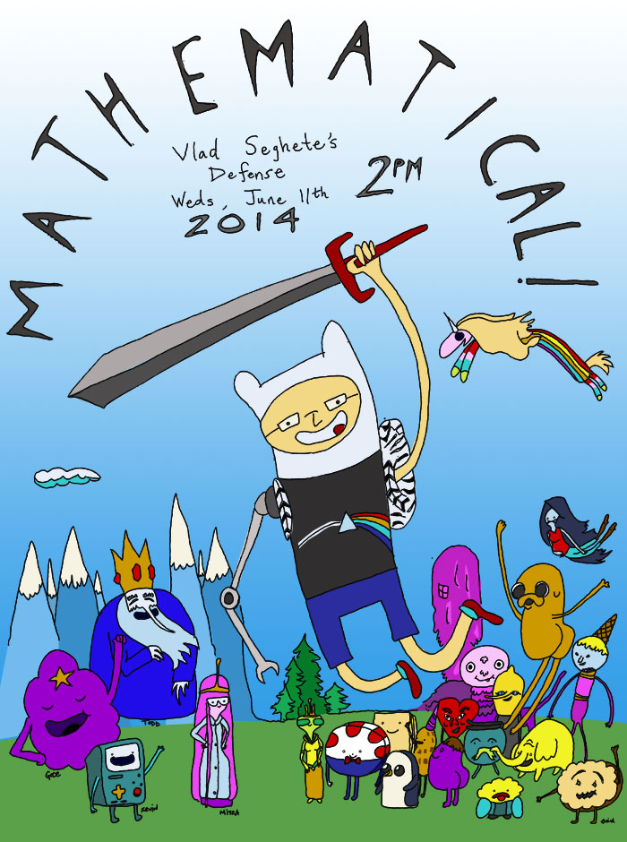 Vlad's Adventure Time poster - Mathematical!!!