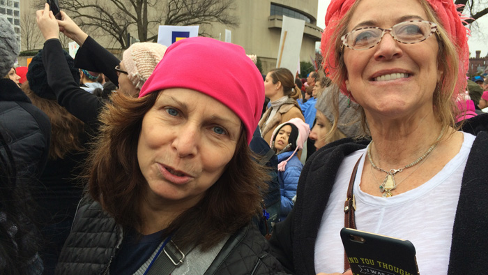 Mommas Michele and Denise | Women's March on Washington, DC | 21 January 2017
