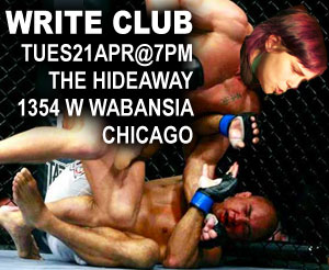 erica dreisbach repping GLORY in GUTS v. GLORY | Write Club - Tues, April 21 @ 7pm | $10 (cash only) | The Hideaway • 1354 W Wabansia, Chicago