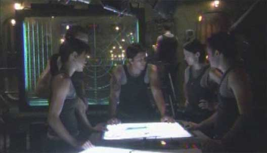 Battlestar Galactica is a sweaty place