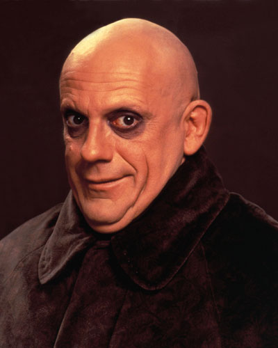 promotional photograph of Uncle Fester from The Addamm's Family as played by Christopher Lloyd | Tacky Harper's Cryptic Clues