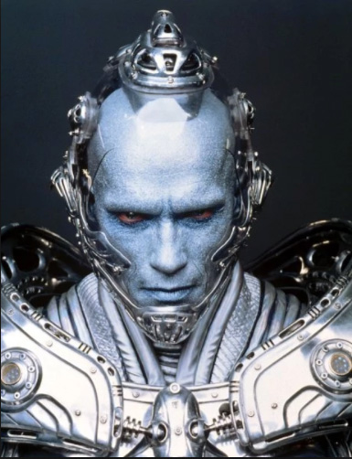 still of Mr Freeze as played by Arnold Schwarzenegger in Batman and Robin | Tacky Harper's Cryptic Clues