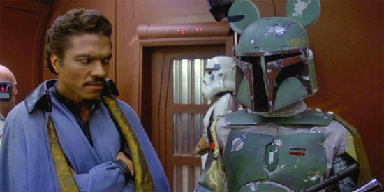 still of Boba Fett and Lando Calrissian from The Empire Strikes Back | Tacky Harper's Cryptic Clues