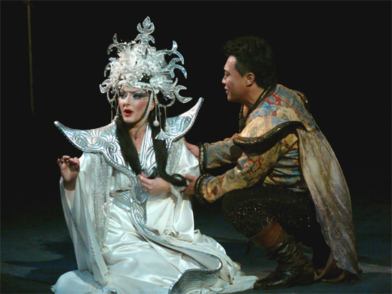a photo from an operatic production of Puccini's Turandot | Tacky Harper's Cryptic Clues
